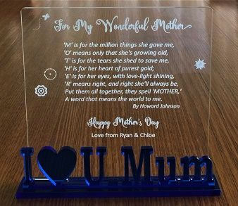 pt gifts and awards personalised engraved acrylic plaque for my