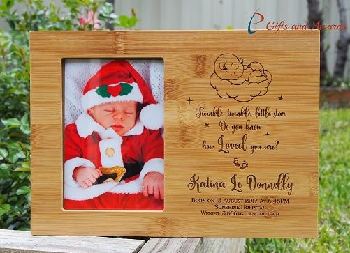 Pt gifts and awards personalized engraved bamboo photo frame hold personalized engraved bamboo photo frame hold 4x6photo new born gift new born photo frame gift for new born baby design 1 negle Image collections