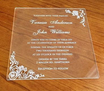 PT Gifts And Awards Personalised Laser Engraved Acrylic Wedding