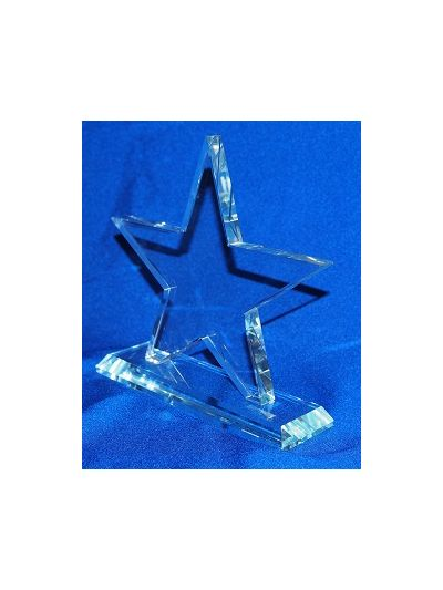 PERSONALISED STAR AWARD ON BEVELED BASE