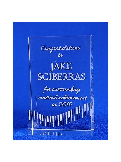 PERSONALISED CRYSTAL RECTANGLE AWARD
