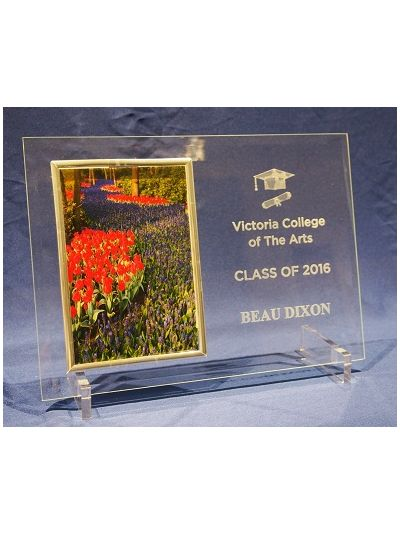 "Graduation/Student Personalised Glass photo frame - hold 6x4"" or 15x10cm photo"