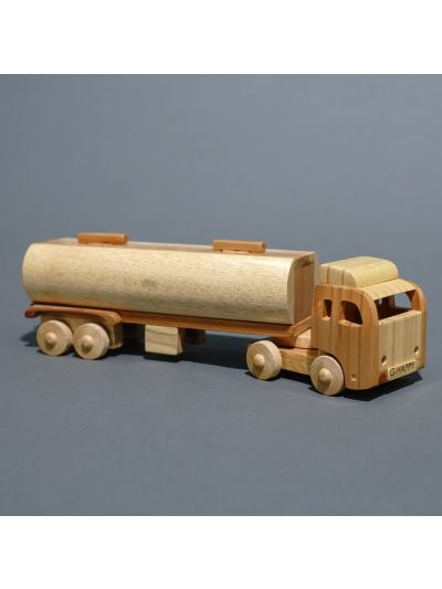 Wooden Tank Truck, long size - Eco Friendly,  Unpainted, Clear Coated Wooden Craft