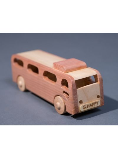 Wooden Bus - Eco Friendly, Unpainted, Clear Coated Wooden Craft