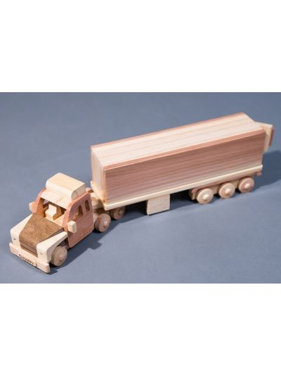 Wooden Container Truck - Eco Friendly, Unpainted, Clear Coated Wooden Craft