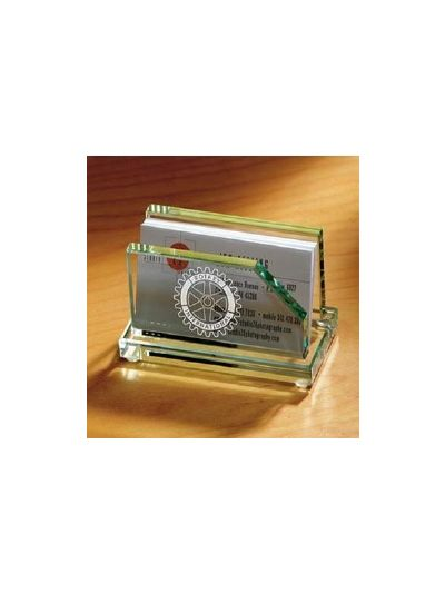 Personalised Crystal Business Card Holder