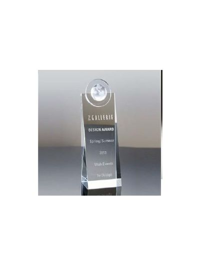 Personalised Globe Top Crystal Award