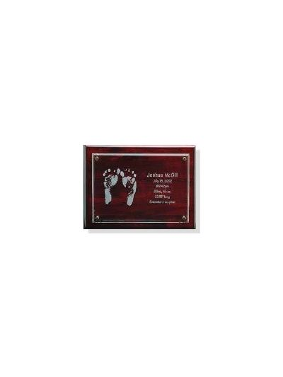 Personalised Crystal and Wooden Plaque