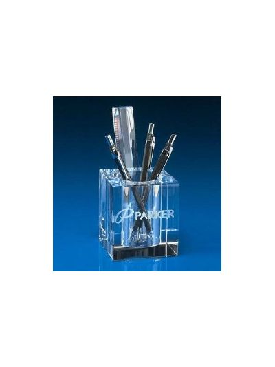 Personalised Crystal Pen Holder