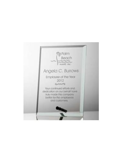 Personalised Crystal Plaque in Portrait