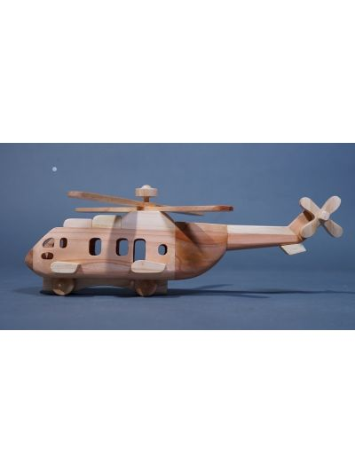 Wooden Helicopter - Eco Friendly,  Unpainted, Clear Coated Wooden Craft