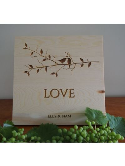 Personalised Solid Pine Wooden Decoration - LOVE