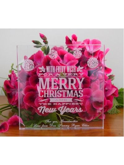 Acrylic Engraved & Personalised Plaque - Merry Christmas