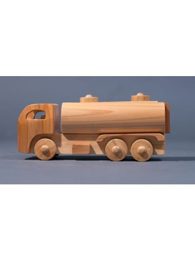 Wooden Mini Tank Truck - Eco Friendly, Unpainted, Clear Coated Wooden Craft