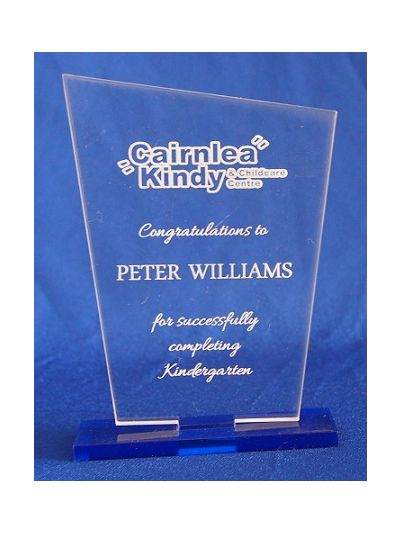 Personalised Acrylic Award - Kindergarten graduation