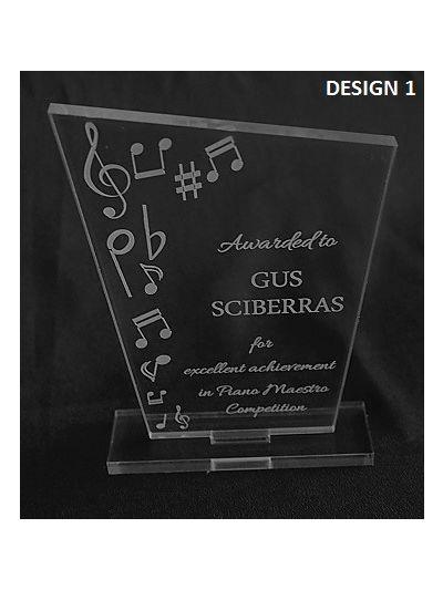 Personalised Acrylic Music Achievement Award