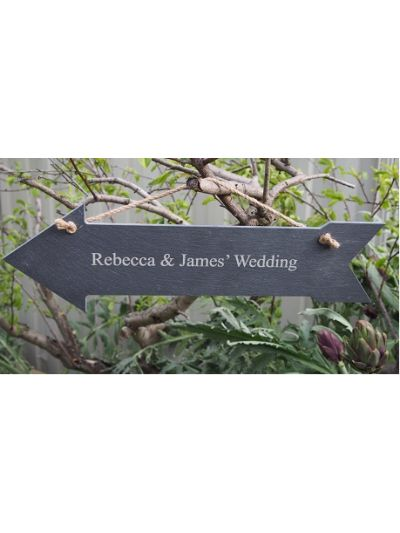 Personalised Slate Arrow Shape Hanging Sign