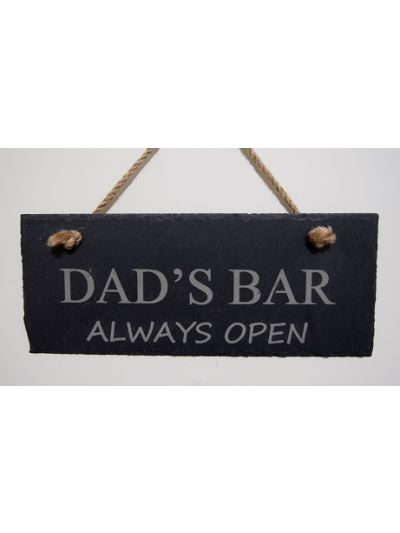 Slate Rectangle Hanging Sign - Dad's Bar