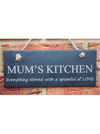Slate Rectangle Hanging Sign - Mum's Kitchen