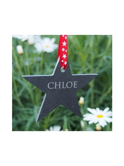 Personalised Slate Little Star shape Hanging Craft - Set of 4