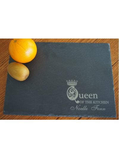 Personalised Slate Rectangle Plate - Queen Of The Kitchen