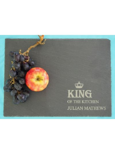 Personalised Slate Rectangle Plate - King Of The Kitchen