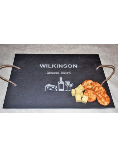 Personalised Slate Rectangle Tray - Cheese Board