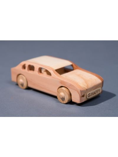 Wooden Car Sedan  - Eco Friendly,  Unpainted, Clear Coated Wooden Craft