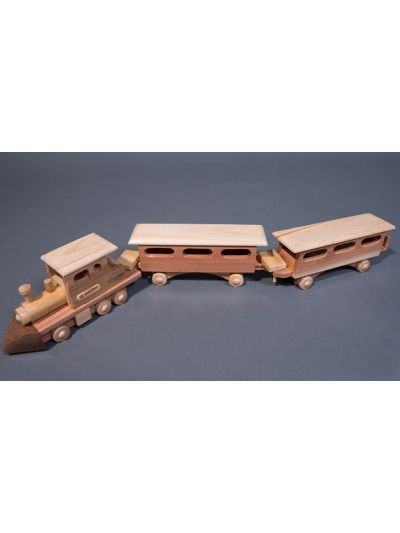 Wooden Train - Eco Friendly, Unpainted, Clear Coated Wooden Craft