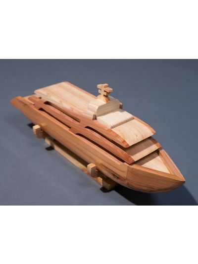 Wooden Cruise- Eco Friendly,  Unpainted, Clear Coated Wooden Craft